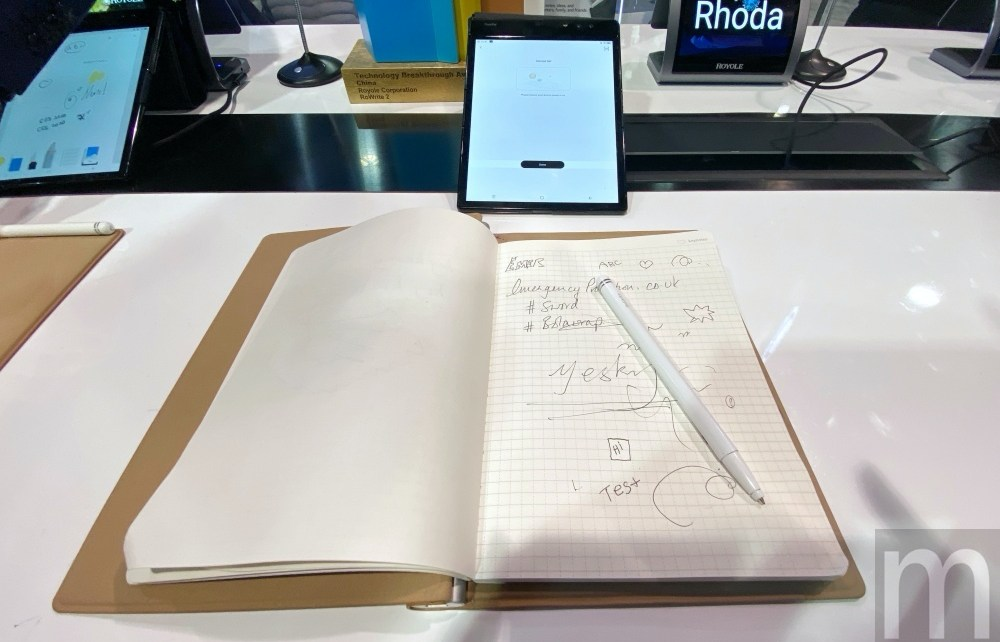 IMG 5083 柔宇展示第二代柔記手寫應用方案,真實筆觸內容轉數位、同步更方便