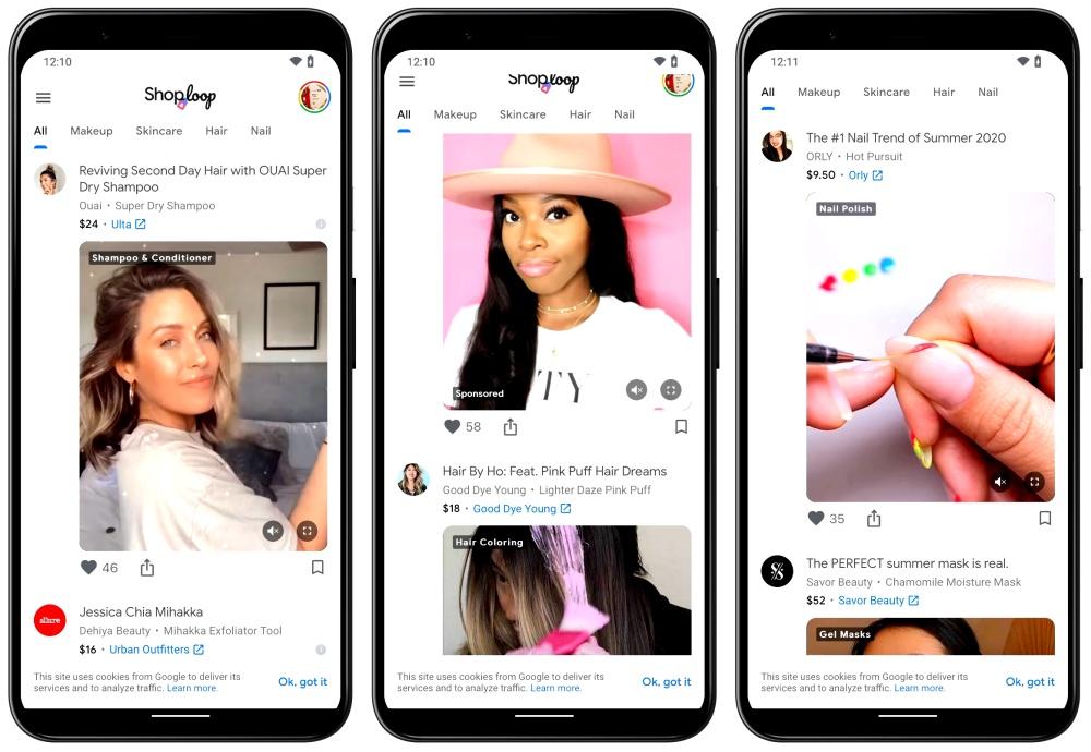 Google內部新創推出結合影片的商品銷售服務Shoploop
