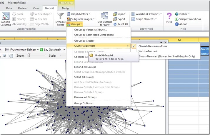 Twitter network analysis and visualisation II: NodeXL - Getting started with the @WiredUK friends network (4/6)