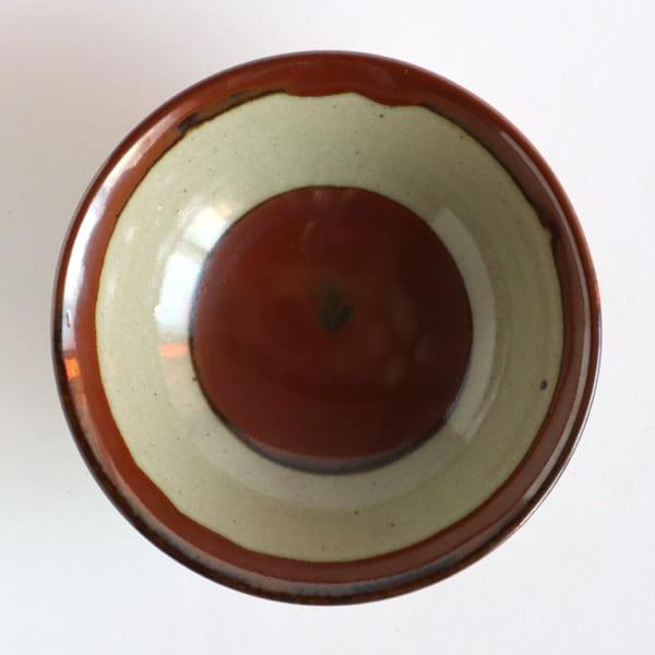 柿釉抜き紋5寸鉢 | 陶庫