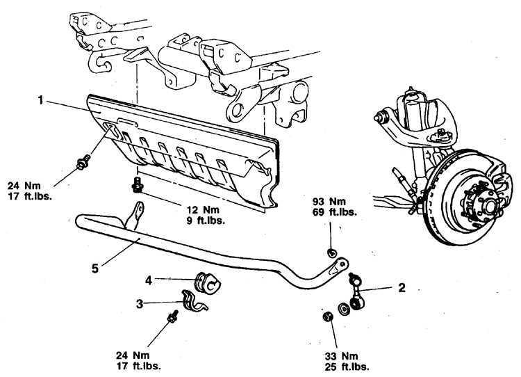 Стабилизатор поперечной устойчивости Mitsubishi Pajero