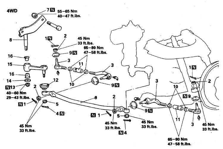 Рулевое управление Mitsubishi Pajero 1982-1998