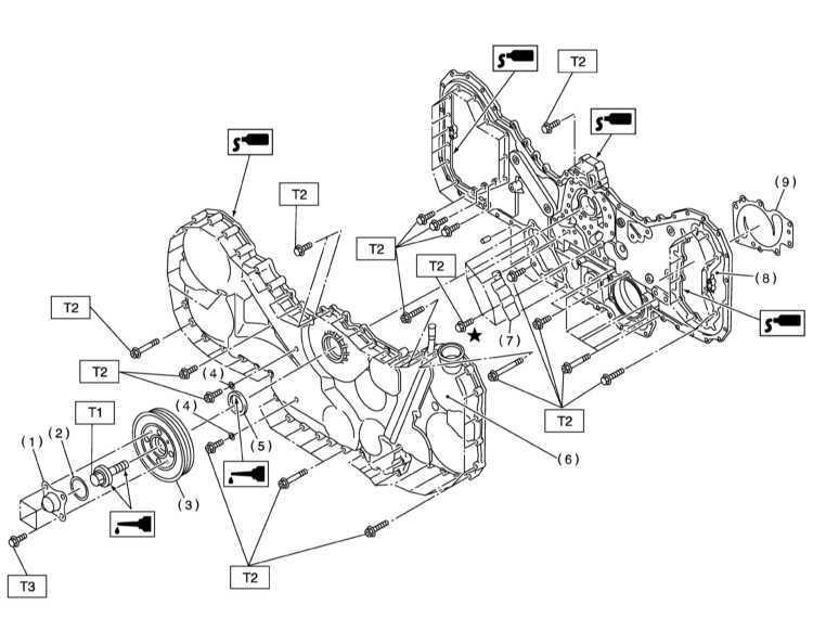Снятие и установка крышек привода ГРМ Subaru Legacy