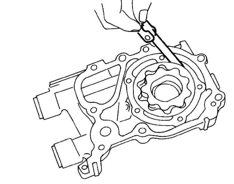 Снятие, обслуживание и установка масляного насоса Subaru