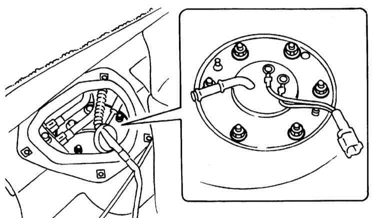 Опорожнение топливного бака Subaru Legacy Outback 1999-2003