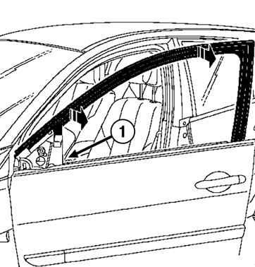 Снятие и установка уплотнителя проема боковой передней
