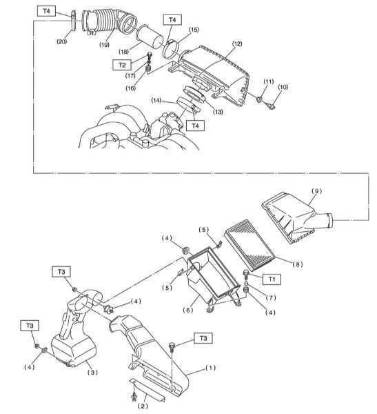 Обслуживание компонентов впускного воздушного тракта