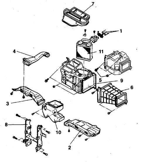 Радиатор отопителя Mitsubishi Pajero 1982-1998