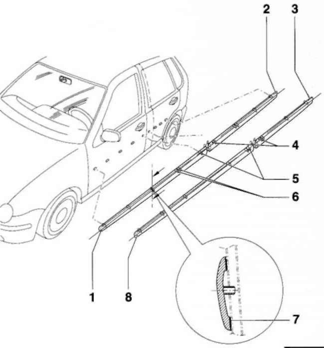 Снятие и установка боковой защитной накладки Volkswagen