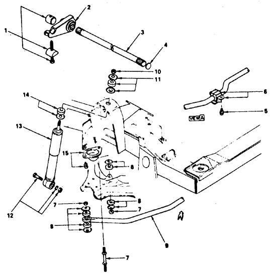 Передняя подвеска. Общая информация Isuzu Trooper 1989-1995