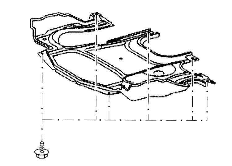Снятие и установка крышки двигательного отсека со стороны