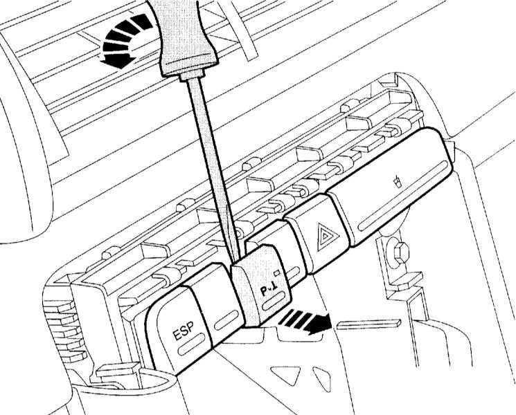 Снятие и установка выключателей центральной консоли Audi