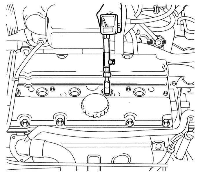 Проверка компрессионного давления в цилиндрах Opel Astra B