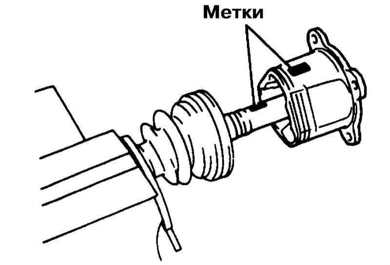 Снятие, разборка, сборка и установка задних приводных