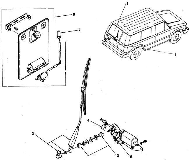Электродвигатель стеклоочистителя заднего стекла Isuzu