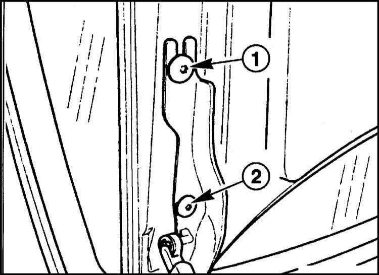 Регулировка положения крышки багажника BMW 5 (E39) 1996-2001