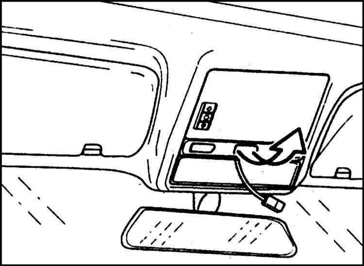Снятие и установка электродвигателя сдвижной панели люка