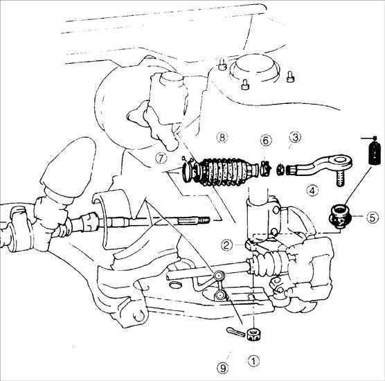 Замена защитного чехла рулевой тяги Kia Sephia 1995-2001