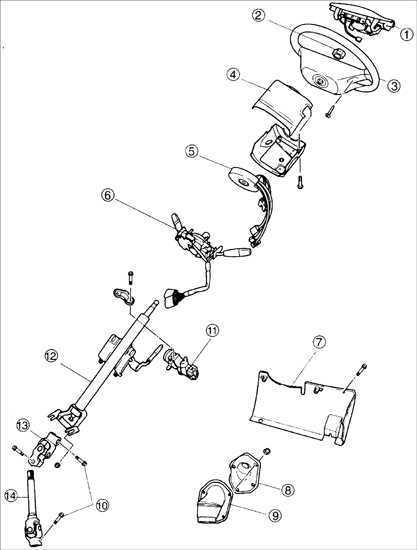 Рулевой вал Kia Sephia 1995-2001