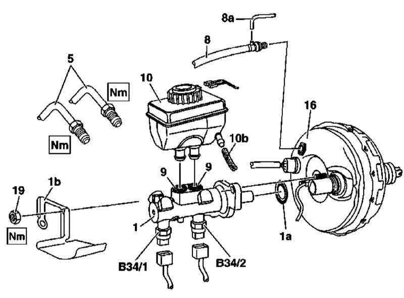 Снятие и установка главного тормозного цилиндра Mercedes