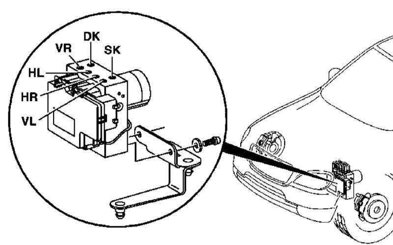 Снятие и установка гидромодулятора ETS/ESP Mercedes-Benz