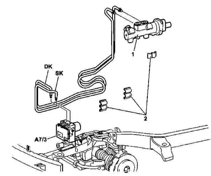 Снятие и установка гидравлических линий, проложенных между