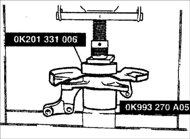 Ремонт поворотного кулака Kia Clarus 1995-2001