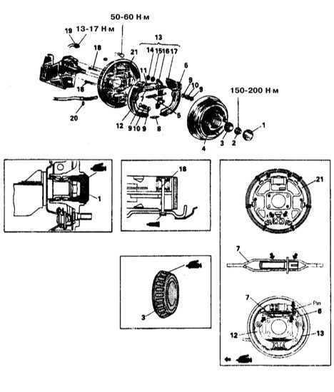 Снятие, установка и проверка состояния тормозного барабана