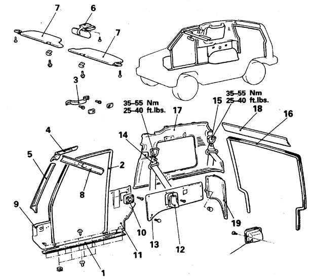 Облицовочные панели салона Mitsubishi Pajero 1982-1998