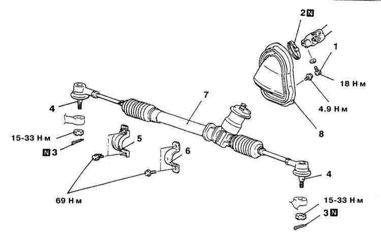 Снятие и установка рулевого механизма с ручным приводом