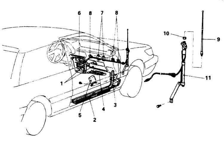 Замена антенны радиоприемника Mitsubishi Galant 1990-2001