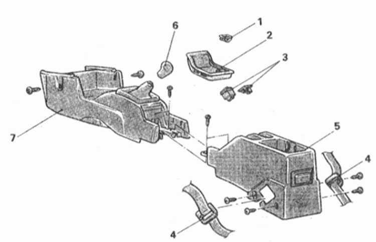 Снятие и установка центральной консоли Mitsubishi Galant