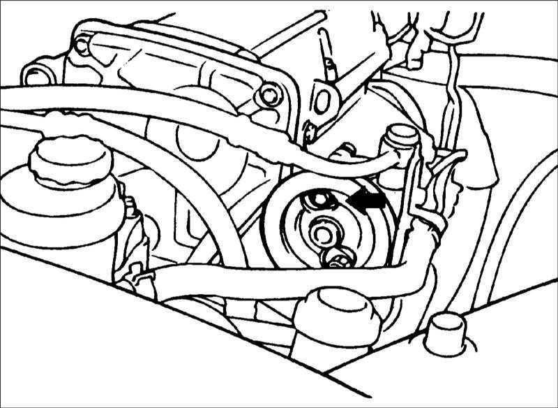 Проверка натяжения ремня привода насоса гидроусилителя