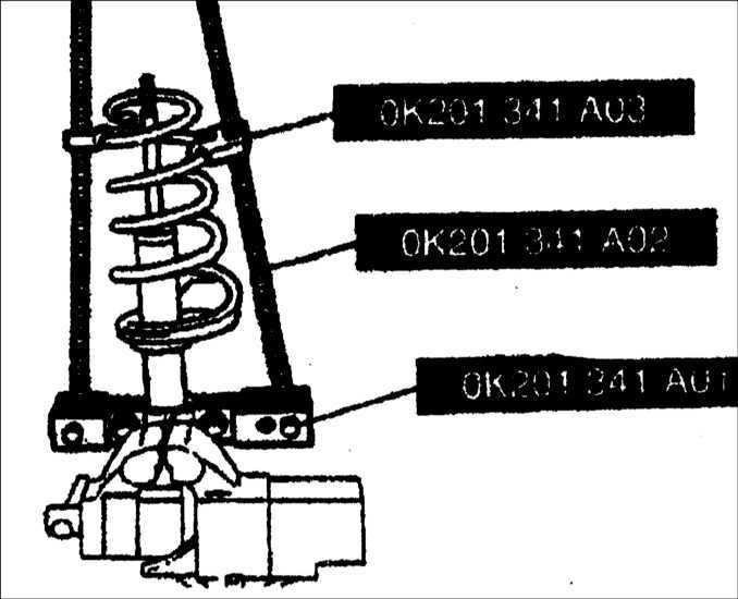 Ремонт амортизационной стойки передней подвески Kia Clarus