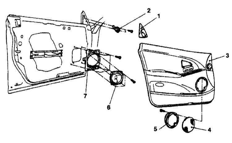 Снятие и установка громкоговорителей Mitsubishi Galant