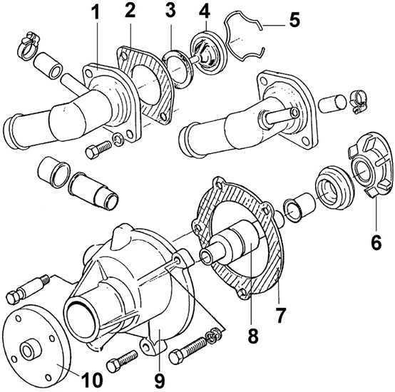 Снятие и установка термостата Ford Scorpio 1985-1994