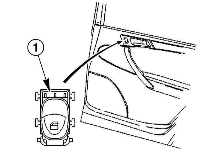 Снятие и установка выключателей в дверях Mercedes-Benz
