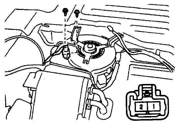Электродвигатель и цепь вентилятора отопителя Toyota