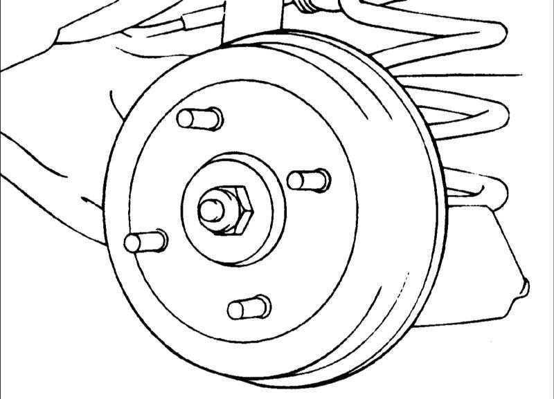 Задние барабанные тормоза Hyundai Elantra 2000-2004