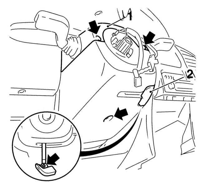 Снятие и установка выключателей Opel Astra B 1998-2004