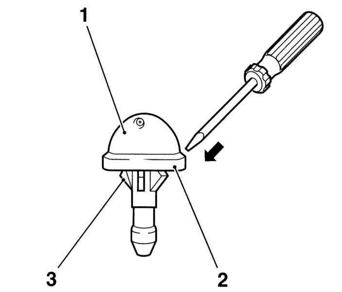 Снятие и установка компонентов системы омывания стекол