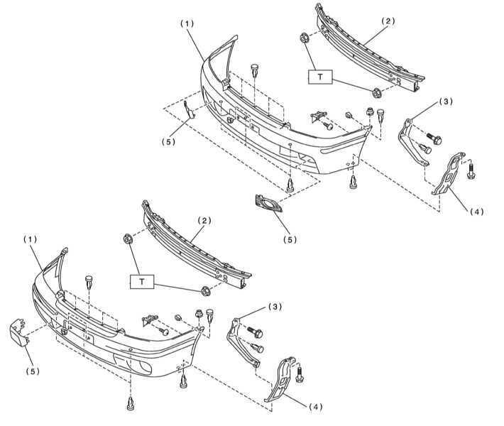 Снятие и установка переднего бампера Subaru Legacy Outback
