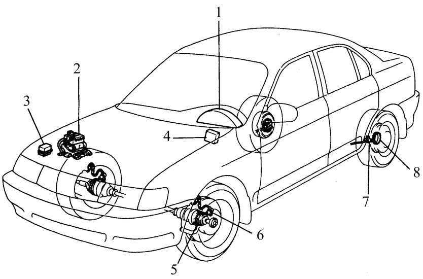 Система антиблокировки тормозов (АБС) Toyota Corolla 1992-1998
