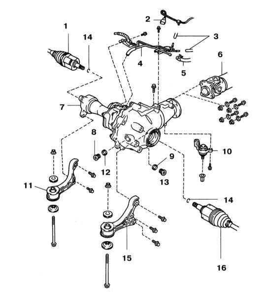 Снятие и установка сборки переднего дифференциала Toyota