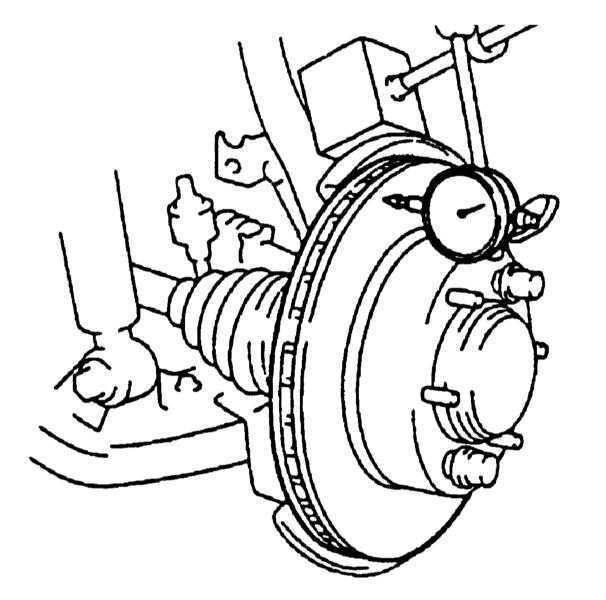 Проверка состояния, снятие и установка тормозного диска