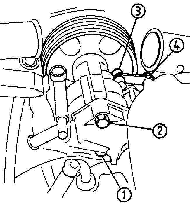Насос усилителя рулевого управления Opel Vectra A 1988-1995