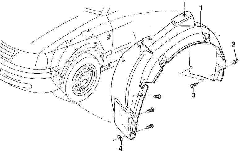 Облицовка ниши переднего колеса Volkswagen Passat B5 1996-2005
