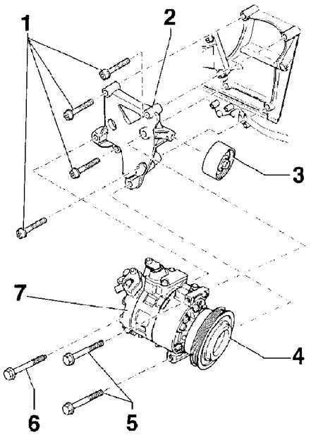 Компрессор кондиционера Volkswagen Passat B5 1996-2005