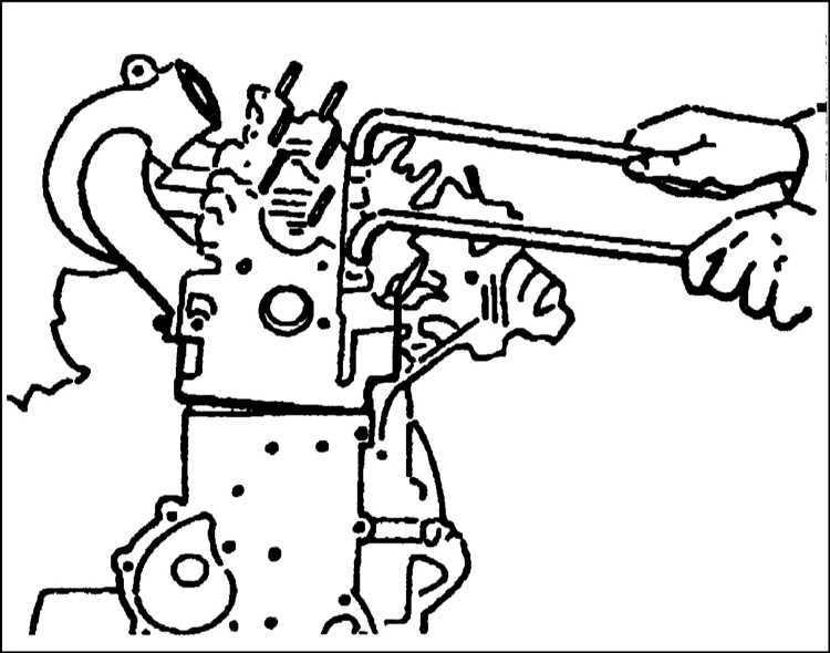 Снятие и установка головки цилиндров Citroen Xantia 1993-1998