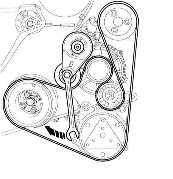 Снятие и установка клинового ремня Audi A3 1996+
